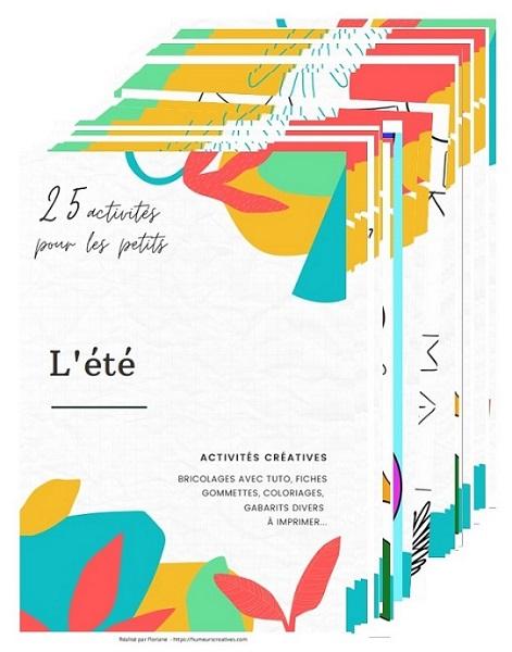 """Livret """"25 activités pour petits sur l'été"""""""