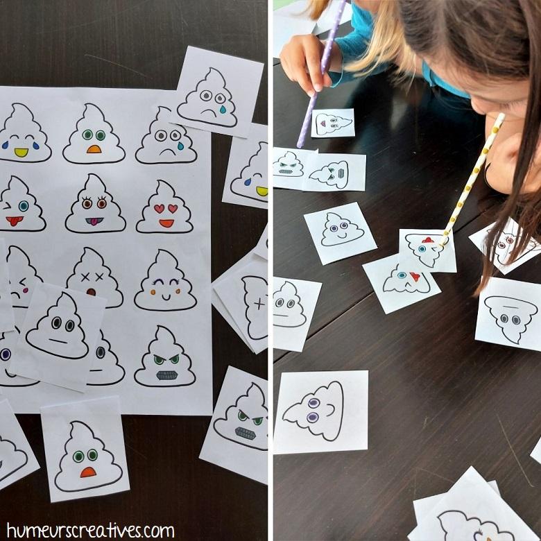jeu anniversaire : le jeu du caca Kawaii