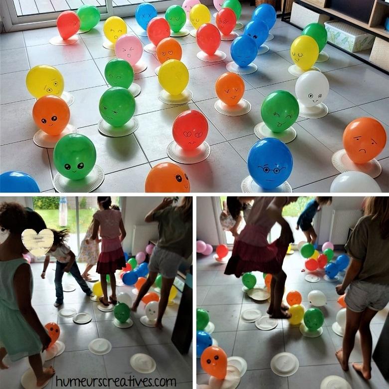 jeu anniversaire : explosion de ballons Kawaii