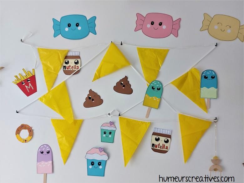 décoration anniversaire Kawaii pour enfants