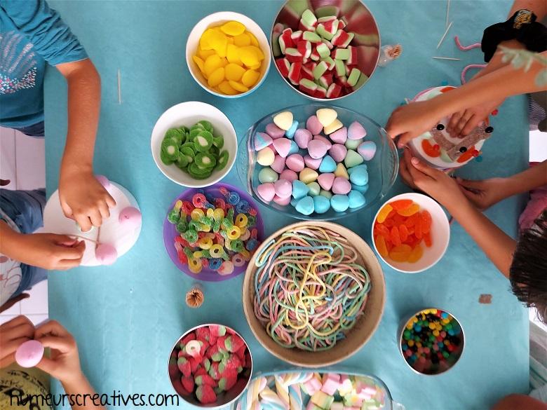 création de gateaux en bonbons