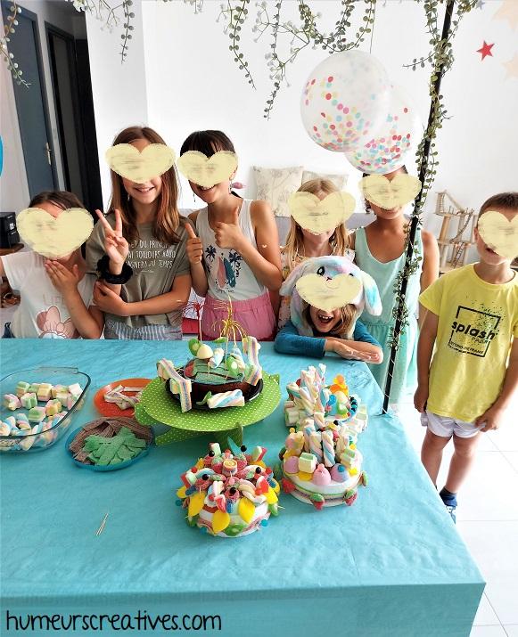 animation gâteau de bonbons avec les enfants