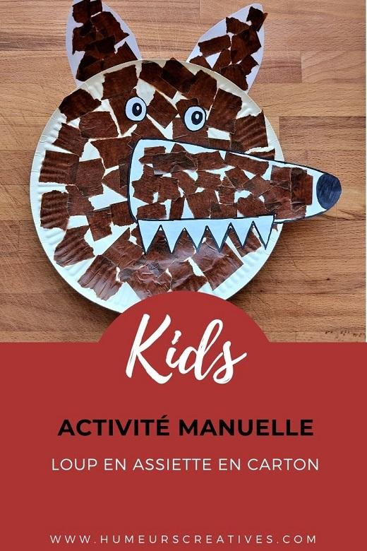 Bricolage pour enfants : fabriquer un loup à l'aide d'une assiette en carton
